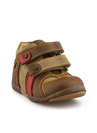 Cici Bebe Ayakkabı Cicibebe Nubuk Detaylı Cırtcırtlı Erkek Çocuk Bot Kahve